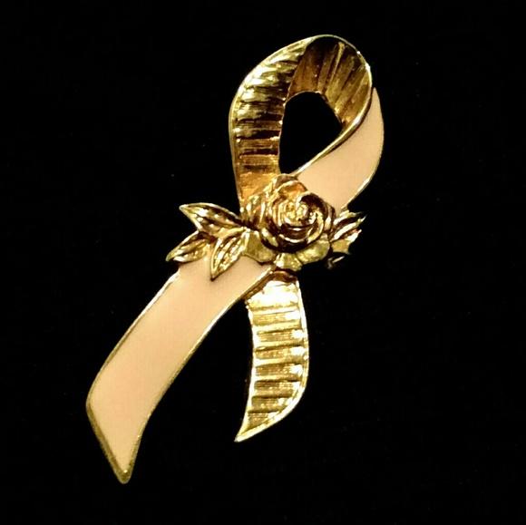 Avon Jewelry - Avon - Golden Rose Breast Cancer Awareness Brooch